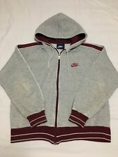 VTG 80s Nike Blue Tag Hooded Hoodie Sweatshirt Gray Maroon Jacket Mens Large 70s