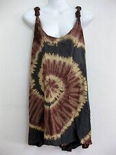 Hot Tie Dye knot Back Tank Singlet dress Spiral Beach Cover Hippy Bohemian Gypsy
