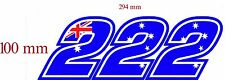 Casey Stoner RACE NUMBER  3 digit Decal size apr. 100MM HIGH( PICK YOUR NUMBER)