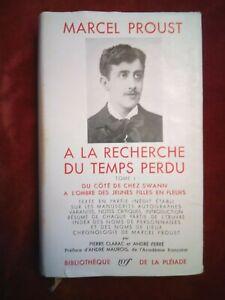 Pléiade Proust A la recherche du temps perdu TOME 1 bon état 1954