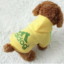 * New Adidog Dog Hoodies Button Winter Warm Sports Apparel Coat Clothes For dogs
