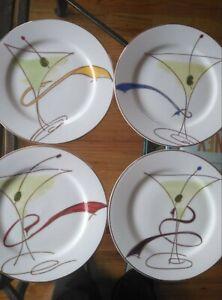 Pier 1 Imports Dinnerware Set Martini Glasses Decor Appetizer Party set of 8
