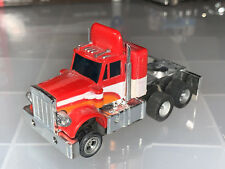 AURORA AFX LIGHTED RED/ORANGE/WHITE PETERBILT CAB TRUCK SLOT CAR