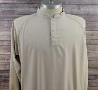 FJ Footjoy Golf Mens Windbreaker Jacket Pullover Beige Size XL