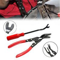 New 2pc Car Door Panel Remover & Interior Trim Clip Popper Mechanics Tool Kit