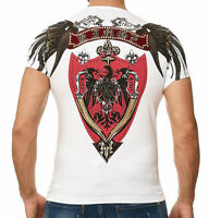 Kingz SWORD Herren T-shirt Stretch Weiss Alle Gr. Neu