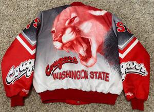 NWOT Vintage Washington State Cougars Chalk Line Fanimation Jacket USA Made XL