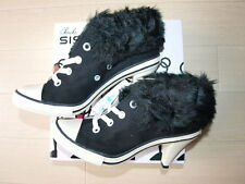 New/CONVERSE Hi Heel Boa Sneaker US5.5 24.5cm Black Womens