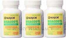 Major Bisacodyl 5mg EC Laxative 1000 Tablets  ( 3 pack ) PHARMACY FRESH!