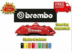 6 x WHITE BREMBO Brake Caliper Decals Stickers High-Temp