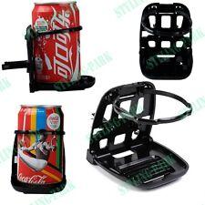 Black Car Fold Foldable Drink Bracket Stand Air Vent Beverage Cup Holder Pad Kit