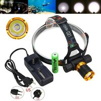 Scuba Diving 5000LM XM-L T6 LED Headlight Head Lamp+18650+Charger Underwater 50m
