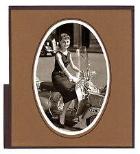 25x Cartoncino passepartout 10x15 ovale adesivo, per stampe, foto, quadri