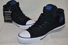 Converse Men's Chuck Taylor High Street Black/Wht/Blue Hi-Top Sneakers-9/10 NWB