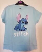 Stitch T-Shirt Top Sticker Design Print Tshirt Womens Ladies Disney Primark
