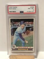 1979 Topps Rich Gale Kansas City Royals - All-Star Rookie Cup Card -  PSA 8