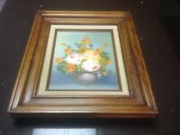 Original Floral Still Life Oil Painting On Canvas By Artist Berry