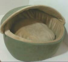 NEW OPEN PACKAGE K & H 6193 Heated Cat Bed with Hood Sage Small $94.50