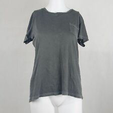 Forever 21 Tee Short Sleeve Casaul T Shirt Grey Top Size Small Front Pocket