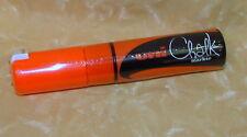 PENNARELLO UNI CHALK MARKER PUNTA SCALPELLO 8mm ARANCIONE FLUO cod.17464