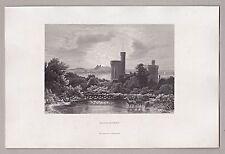 Potsdam - Ansicht von Schloss Babelsberg. Stich, Orig. Stahlstich 1862 ***