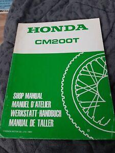 Werstatthandbuch Nachtrag Honda CM200T