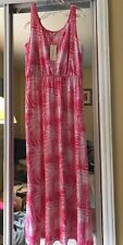 Sonoma Pink Patterned Women's Long Dress Maxi Size Petite Large