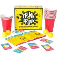 Trunk of Drunk - 8 Best Drinking Games (Beer Pong Ring of Fire Adult Hen Party)