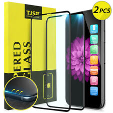 [2 Pcs] For iPhone XS/X TJS 3D Curved Full Cover Tempered Glass Screen Protector