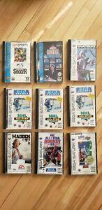 9 Sega Saturn Game Lot (check description)