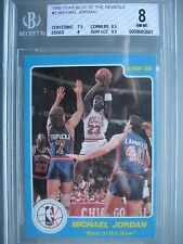 1986 Star Best of the New Old Basketball #2 Michael Jordan Rookie Rc BGS 8 NM-MT