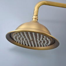 Antique Brass 8 inch Round Rainfall Shower Head Bathroom Shower Head