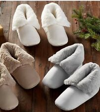 NEW POTTERY BARN SLIPPERS - MEDIUM GRAY 8-9 WOMENS Booties Shoes