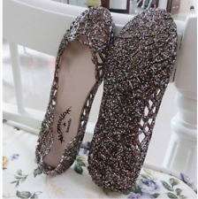 Women's Casual Shoes Jelly Hollow Out Flat Heel Sandals Flip Flops Size Beach