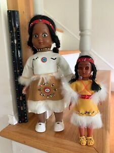 Native American Dolls Plastic & Rubber Twin Papoose