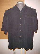 Tommy Bahama Men's black 100 Silk Hawaiian Shirt Size Extra Large XL
