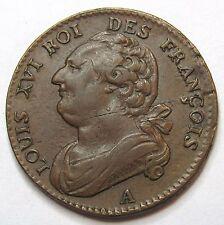 Constitution - 12 deniers - Louis XVI  - 1792 A - QUALITE
