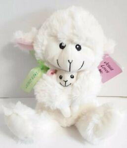 """Easter Plush Sheep Stuffed Animal Jesus Loves Me Lamb Baby White 15"""" John 3:16"""