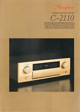 Accuphase c-2110 Catalogo Prospetto Catalogue datasheet brochure