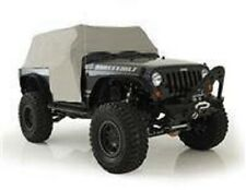 Smittybilt 07-17 Jeep Wrangler 2dr Cab Cover With Door Flap Water Resistant Gray