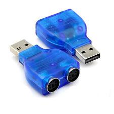 Nuevo 1X USB Macho A PS2 Hembra Cable Adaptador Convertidor Para Teclado Ratón