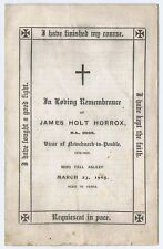 NEWCHURCH IN PENDLE 4 Page Remembrance Service Programme James Holt Horrox 1905