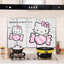 Cute Hello Kitty Oil Proof Sticker Wallpaper Waterproof Wall Tile Kitchen Decal