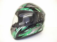 Viper Rs-220 Demon Full Face Motorcycle Motorbike Helmet Sharp 4 Stars Green Yes Extra Iridium Visor L (59-60cm)