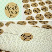 48x THANK YOU Kraft Seal Sticker Label for Wedding Favor/Envelope/ Card HGUK