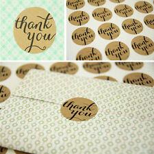 36 Pcs THANK YOU Kraft Seal Sticker Label for Wedding Favor/Envelope/Card 0cn