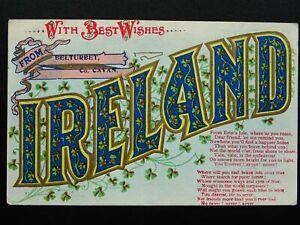 Ireland Cavan BELTURBET Best Wishes from IRELAND c1911 Postcard by The N.P.O.