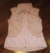 LULULEMON velocity vest size 6 petal pink print reflective and water resistant