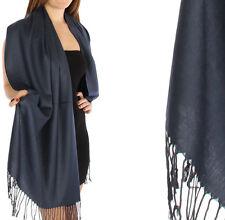 Fashion Solid Pashmina Silk Scarf Shawl Wrap  60 Colors