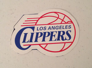 """Los Angeles Clippers 4""""x3"""" Inch Mini Team Logo Vinyl Wall Graphics / Decal"""